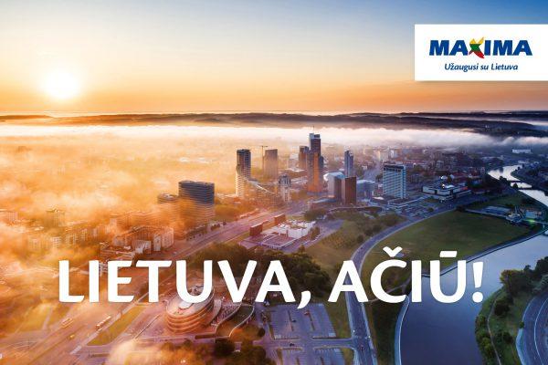 """""""Maxima"""" dėkoja klientams – pradeda metus truksiančią kampaniją """"Lietuva, ačiū!"""""""