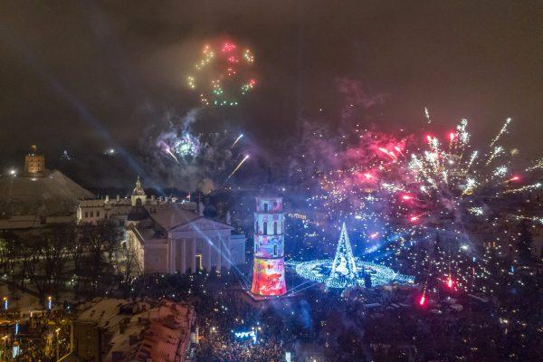 Pamatykite, kaip įspūdingai Vilnius pasitiko 2019 metus (+VIDEO)
