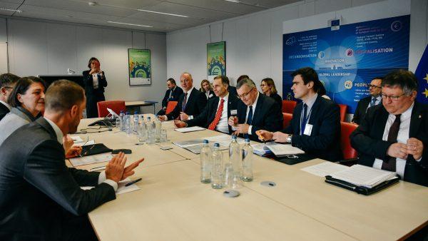 Ginant Lietuvos vežėjų interesus – ministro R. Masiulio susitikimai su Europos Komisijos ir Europos Parlamento nariais Briuselyje