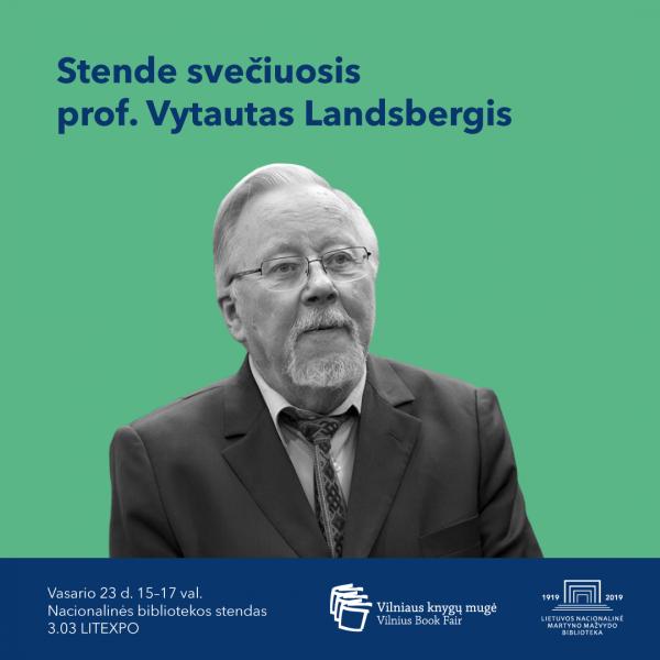 Nacionalinės bibliotekos stende svečiuosis prof. Vytautas Landsbergis