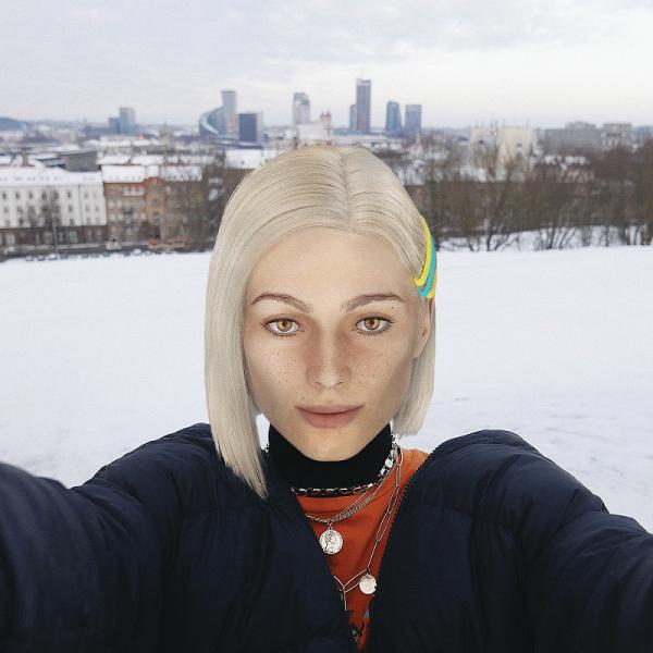 """Pirmoji virtuali """"influencerė"""" Lietuvoje sako """"labas"""""""