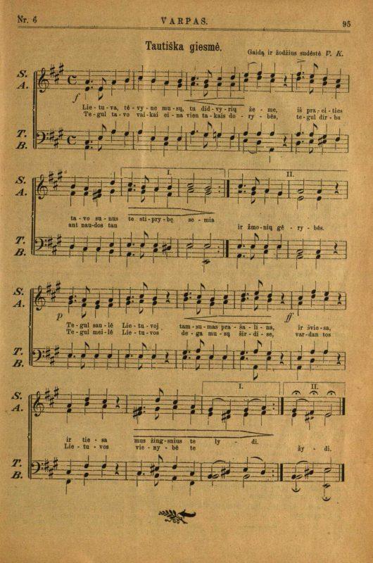 Nacionalinėje bibliotekoje – pirmasis Lietuvos himno garso įrašas