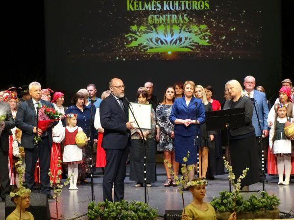 Kelmės kultūros centrui – aukščiausiosios kategorijos kultūros centrų premija