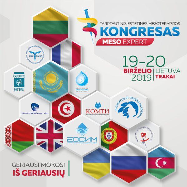 """Pirmą kartą Lietuvoje Tarptautinis estetinės mezoterapijos kongresas """"MESO EXPERT 2019"""" Aktualios temos, naujausi pasiekimai, profesinių įgūdžių tobulinimas."""
