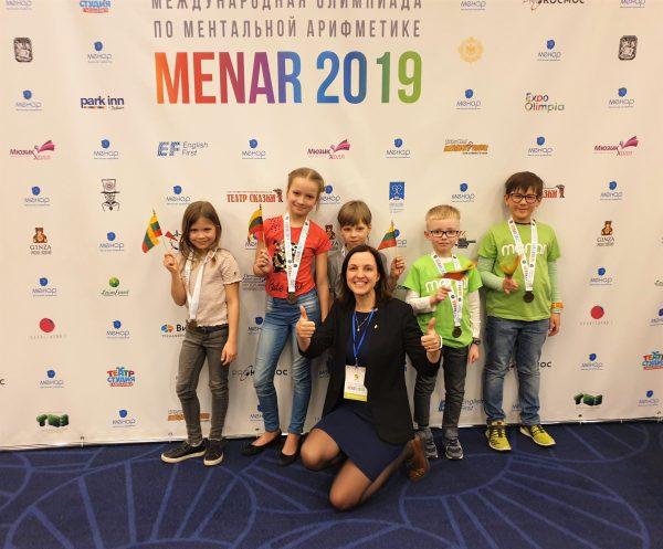 Tarptautinėje olimpiadoje prizas ir septynmečiui iš Lietuvos