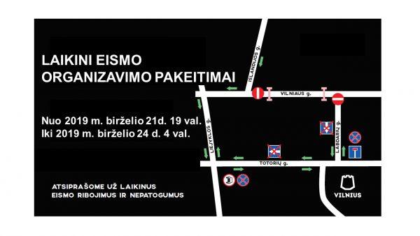 Šventiniu Joninių laikotarpiu Vilniaus centre – laikini eismo pakeitimai