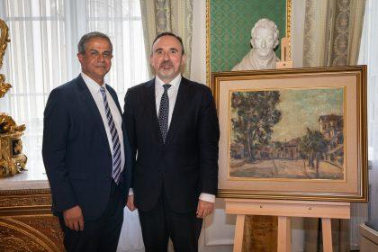 Lietuvos dailės muziejaus rinkinius papildė Izraelio ambasadoriaus Amiro Maimono dovana –  dailininko Cvi Šoro kūrinys