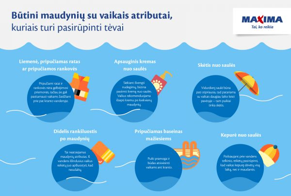 Pataria, ką pasiimti maudynėms su vaikais – 6 privalomi atributai