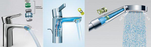 """""""Hansgrohe EcoSmart"""" technologija. Efektyviai taupo vandenį ir energiją tiek namų ūkiuose, tiek viešbučiuose"""
