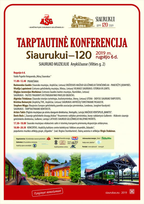 """Tarptautinė konferencija """"Siaurukui – 120"""""""
