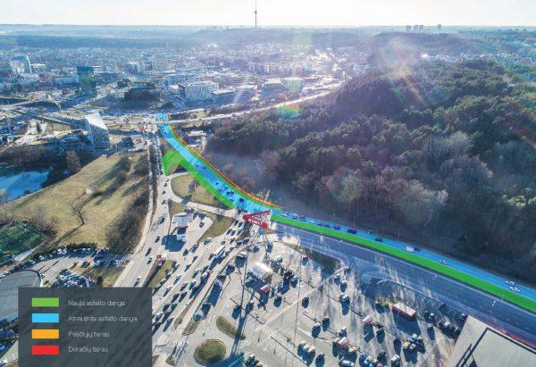 """""""M.M.M. projektai"""" baigė rekonstruoti Geležinio Vilko gatvės atkarpą – indėlis į miesto infrastruktūrą siekia 2 mln. eurų"""