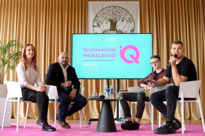 R. Mackevičius su moksleiviais diskutavo apie skaitmeninį etiketą
