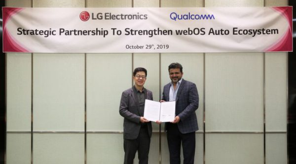 """""""LG"""" ir """"Qualcomm"""" bendromis jėgomis siekia pažangesnių potyrių automobiliuose"""
