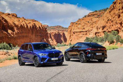"""Pristatyti sportiškieji """"BMW X5 M"""" ir """"BMW X6 M"""" visureigiai"""