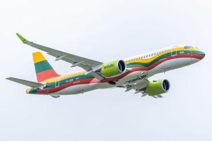 """""""airBaltic"""" Lietuvoje šiemet aptarnavo 18% daugiau keleivių"""