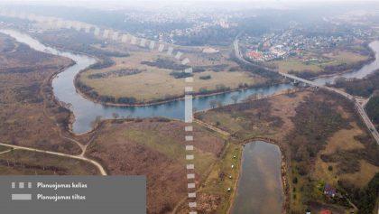 Geresnė Kauno jungtis su užmiesčiu: svarstoma apie naują tiltą per Nevėžį