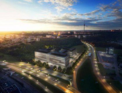 Vilniuje kyla verslo parkas – įpusėjo pirmasis statybų etapas