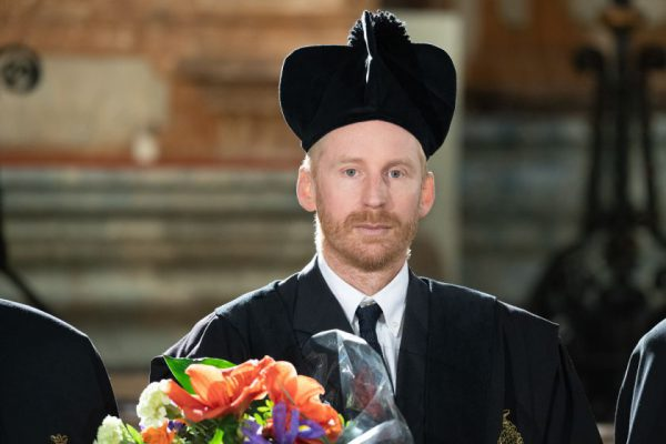 Vilniaus universiteto garbės daktaro vardas suteiktas JAV fizikui profesoriui I. B. Spielmanui