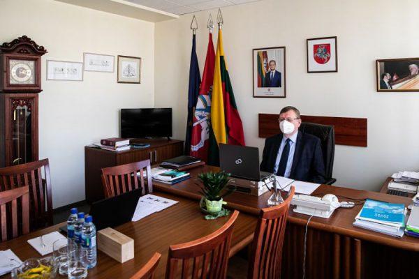 Šiaurės ir Baltijos šalių parlamentų Užsienio reikalų komitetų pirmininkai tęsia glaudų bendradarbiavimą virtualioje erdvėje