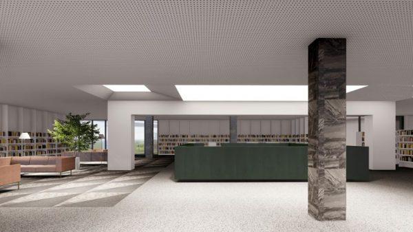 Liepos 8 d. Kauno architektūros ir urbanistikos ekspertų tarybai pristatytas Kauno apskrities viešosios bibliotekos rekonstrukcijos projektas