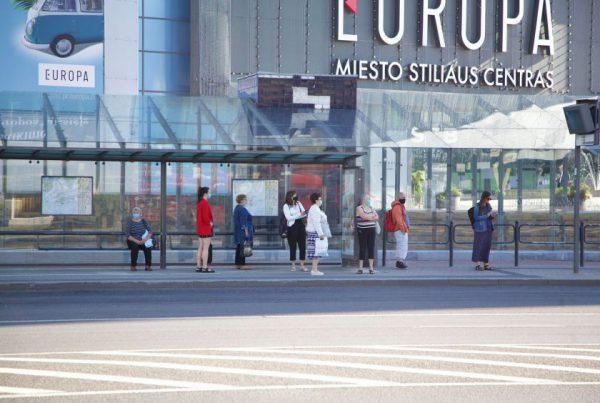 Europos aikštės stotelės rekonstrukcija: sukurs daugiau erdvės pėstiesiems ir dviratininkams