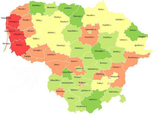 Sudarė šių metų audrų žemėlapį: kurie regionai nukenčia labiausiai