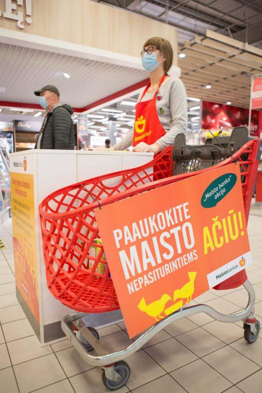 """""""Maisto banko"""" akcijoje paaukota produktų už daugiau nei 300 tūkst. eurų"""