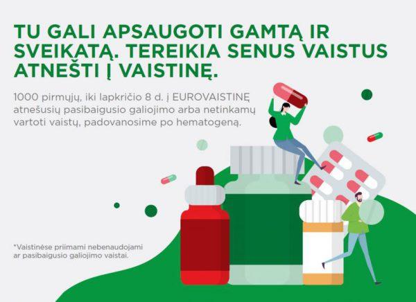 """""""Eurovaistinė"""" rūpinasi nerūšiuojamais vaistais ir kviečia juos atnešti į vaistinę"""