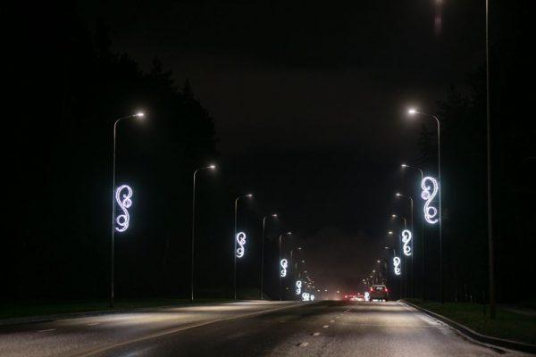Pamatykite, kaip žiemos šventėms išpuoštos Vilniaus gatvės