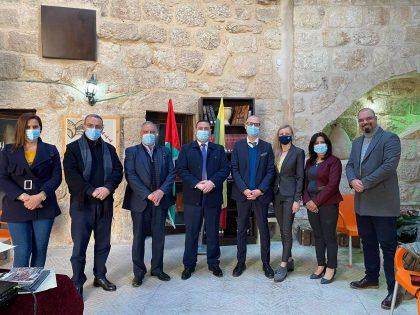 Lietuvos Respublikos atstovybės Palestinoje vadovo Berto Venskaičio vizitas  Beit Sahour mieste