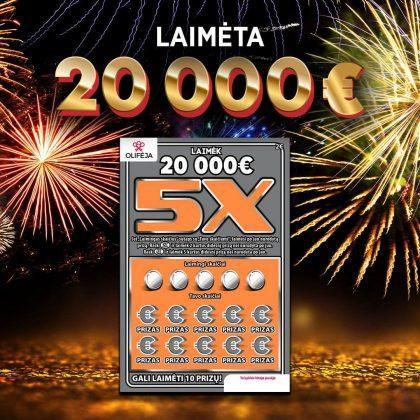 Naujametinis stebuklas: gruodžio 31-ąją Dzūkijoje laimėta 20 000 Eur suma