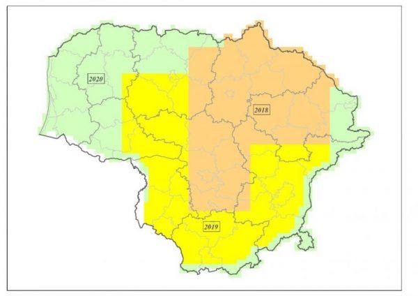 Užbaigti Lietuvos Respublikos teritorijos 2018–2020 metų ortofotografinio žemėlapio sudarymo darbai