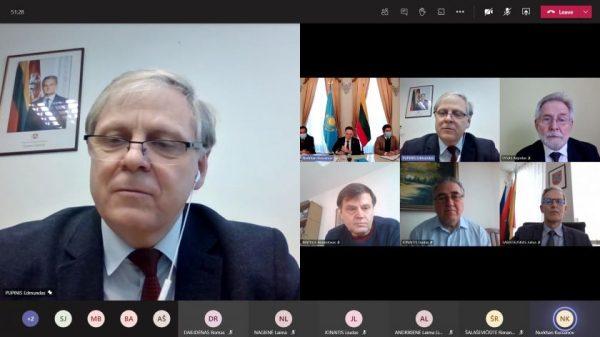 Nuotoliniame susitikime – dėmesys Kazachstano parlamento rinkimams ir pandeminei situacijai regione
