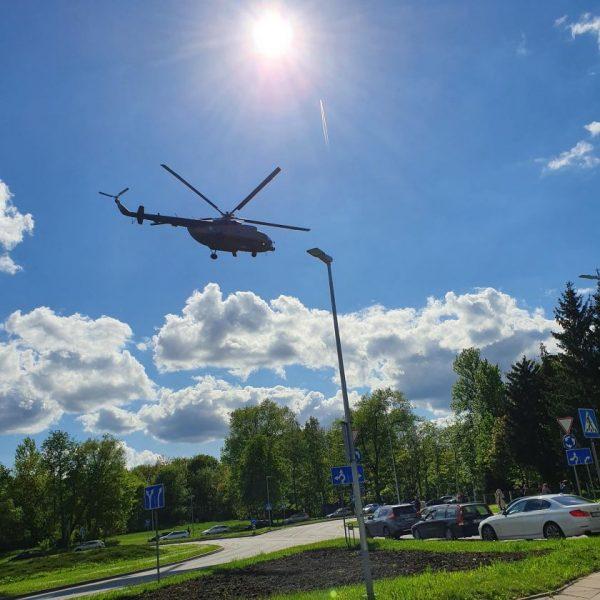 Į Vilnių sraigtasparnis atskraidino šešis žmones išgelbėjusio donoro širdį
