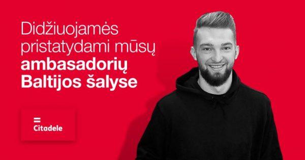 "Domantas Sabonis tapo ""Citadele"" banko ambasadoriumi"