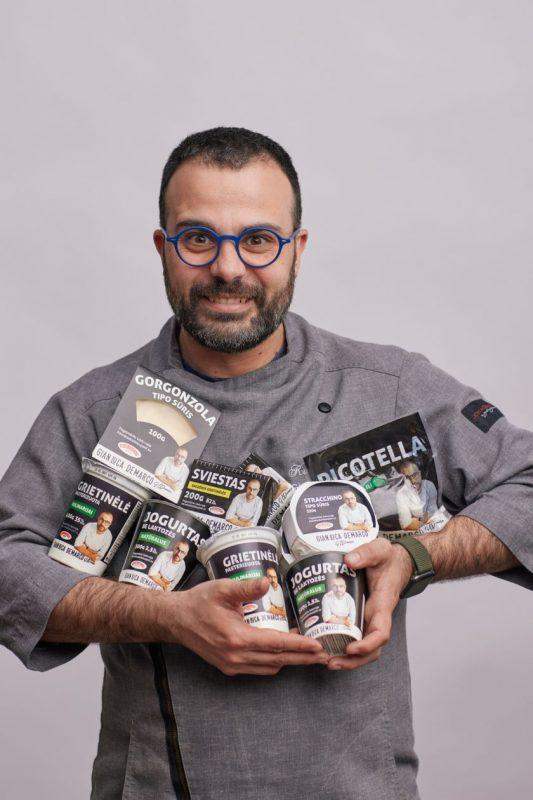 Italų šefas Gian Luca Demarco pristato savo pieno produktų gaminių liniją