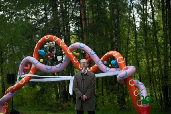 Vilniuje pristatyta spalvinga instaliacija gyvybės mokslų atradimams įprasminti